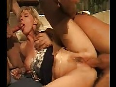 Pantyhose Mature blonde Gangband troia inculata takes hard cock in the ass all the way tits