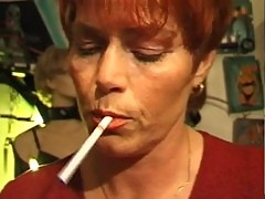 Kira Red Mature German Plumper Smokes A Cigarette While Fucking Hard NEW BY TROC