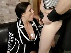 Mature German Brunette Sucks His Cock And Gets Fucked To Suck