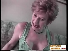 Ugly old woman and young horny guy