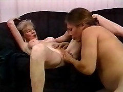 Sexy grandma can't get enough of young meat