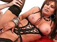 Slutty MILF housewife roughly fucked in sexy black lingerie