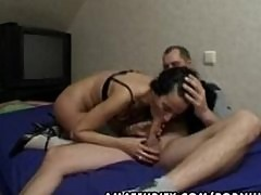 Mature amateur wife toying sucking and fucking with cumshot
