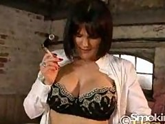 smoking FETISH LATEX BJ