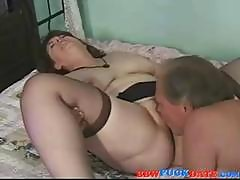 Mature Maiden With A Flabby Figure Gets It On With An Old Geezer
