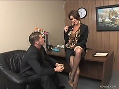 Raquel Devine, horny MILF businesswoman letting loose
