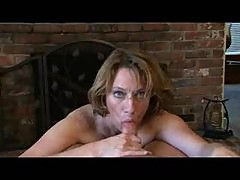 Milf helps him out with POV blowjob and handjob