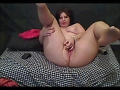 Plumper Mature Amateurs In Pantyhose Masturbating On Their Webcams