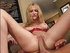 Slutty naked Heather Pink slams her pink pussy hard on a jui...