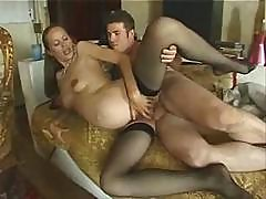 Pregnant Milf Gets Her Ass Reamed By Her Horny Hard Cock Man