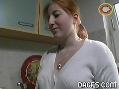 Redhead first handjob as a cheating mom