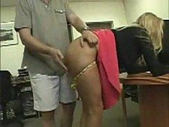 Secretary spanked and fucked doggy style