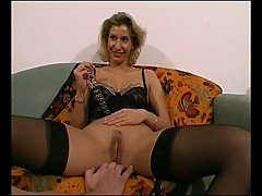 hot milf gives show