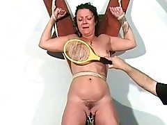 Shaz Tied and Electro Torture of mature english