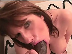 Sexy Mature doxy is fucking with a black guy