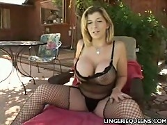Stocking MILF Toying Her Pussy