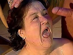 Miriam - Hairy pussy granny slut sucking cock and getting fucked