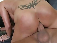 Naughty porn Milf Sky Taylor analyzed and facialed