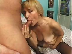 Blonde Granny Gets Cock In The Mouth And Then Gets Ass Fucked