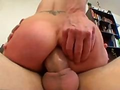 Mature French Brunette Bitch Munches On His Tool And Gets An Ass Fucking