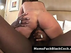 Big boob mature slut Jodi James fucked by big black dick