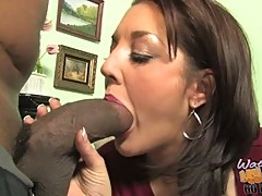 Horny brunette mom bobbi lennox crazy for monster black boner
