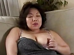 Busty milf getting her tits rubbed giving blowjob cum to mou
