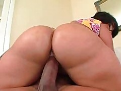 Brazilian babe huge ass cock ride with booty bouncing