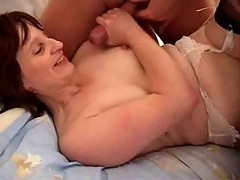 Brit Milf Does THe Biz And Takes The Jizz !