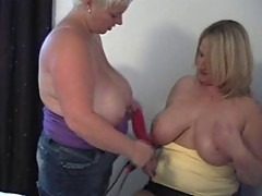 ENGLISH HUGE BOOBED GIRLS TEASING EACH OTHER