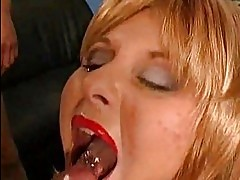 GGG! German Babe Covered in Cum