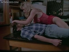 Bonerific Blonde MILF Jonelle Goddard Bangs a Nerd In Hot Red Lingerie