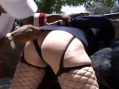 Hot MILF slut in sexy police woman uniform