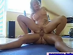 Busty milf riding cock hard until it cums deep inside her
