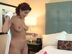Large assed brunette bitch showing body