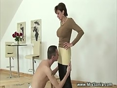 Domina fond of whip and jodhpurs