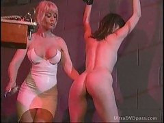 Mature Dominatrix Has Fun With a Submissive Lesbian Babe