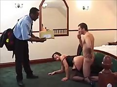 Black guy joins in on the milf fucking