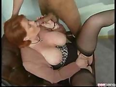 Busty Redhead Gets Double Penetrated