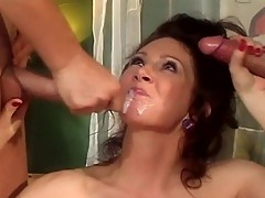 Hot MILF is into double penetration