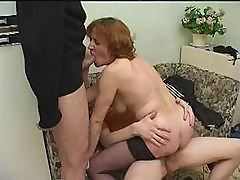 Mature Drunk Mom Fucks 2 Boys