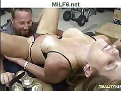 Milf fucking at the store