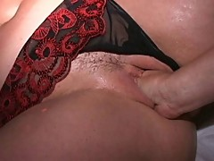Fisting squirters rule at masked MILF swing orgy