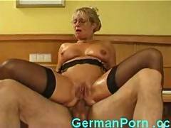 German housewife fucks young stud and gets fisted