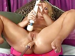 Flower and her machine squirting orgasm