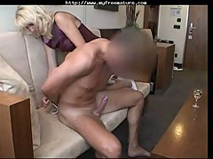 German mature banged by dominated guy