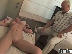 Horny Grandpa Tries Blonde Meat!