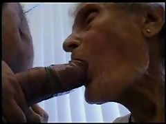 77 years old granny sucking