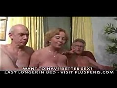 Granny Plays with Two Little Cocks Part2